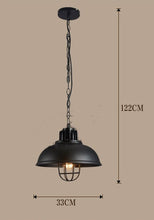 Lighting - Vintage Industrial pendant lights (L-44)