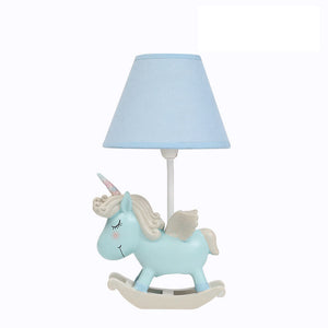 Lighting - Blue / Pink Unicorn table lamp (L-51)