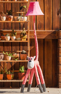 Lighting - Kids floor lamp Pink cat (L-52)
