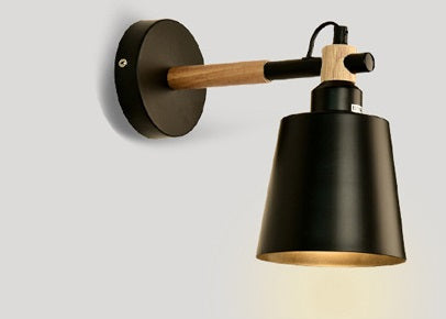 Lighting -Nordic style Iron & Wood  Sconces / Wall Lamp (Black,White,Pink,Blue,Gray) (L-55)