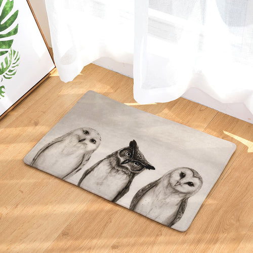 Anti Slip Floor Mat- Owls  - (M-03)