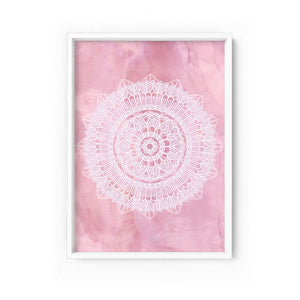 Wall art- Mandala in Blush  -  Framed/ Unframed Art print (A-717)