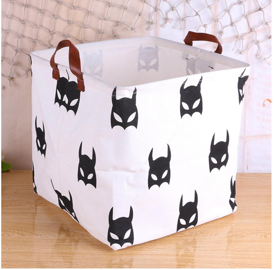 Storage / Decor -  Large B&W Storage Basket  / Toy box (S-11)