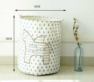 Storage / Decor- Pegasus Waterproof Clothes/ Toys Basket (S-5.2)