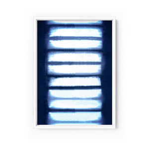 Wall art -Shibori NO.4 Indigo Art Print  (Framed/ Unframed)- (A-532)