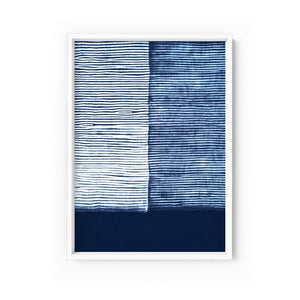 Wall art -Shibori NO.6 Indigo Art Print  (Framed/ Unframed)- (A-534)