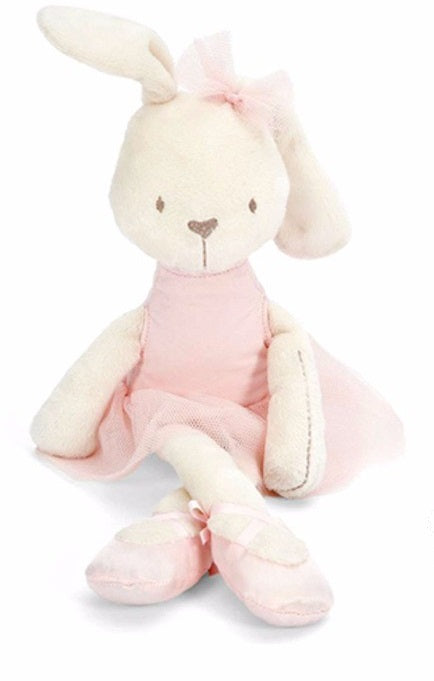 Rosalie -42 cm Dressed Rabbit plush doll -  Pink  (T-45)
