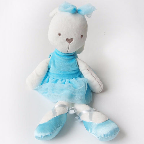 Scarlett -42 cm Dressed Rabbit plush doll -  Blue  (T-46)