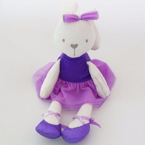 Violet-42 cm Dressed Rabbit plush doll -  Purple  (T-47)