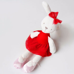 Amber-42 cm Dressed Rabbit plush doll -  Red  (T-48)