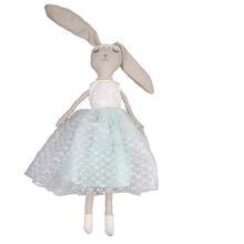 Luna -80 cm Dressed Bunny plush doll -  Blue Dress  (T-49)