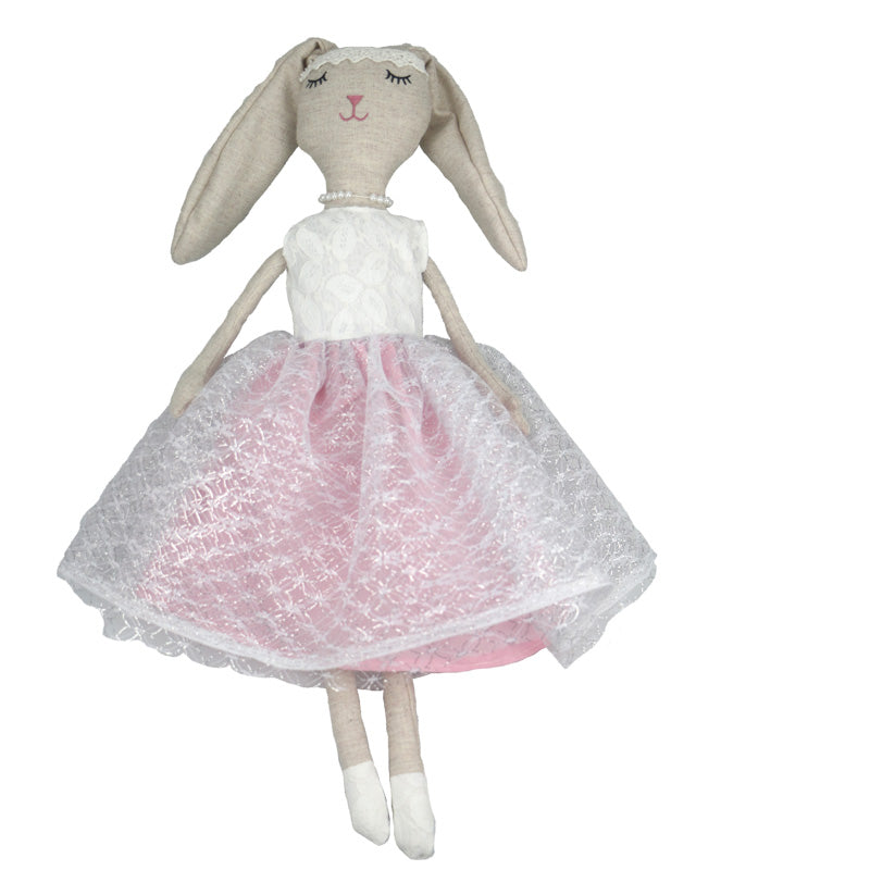 Adelaide -80 cm Dressed Bunny plush doll -  Pink Dress  (T-50)