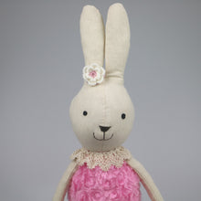 Josie -70 cm Dressed Bunny plush doll -  Pink Dress  (T-52)