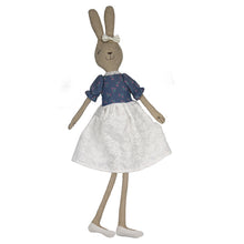 Lilliana -75 cm Dressed Rabbit plush doll -  Blue Dress  (T-54)