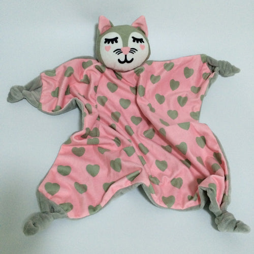 Baby soft toy/Comfy blanket - Cat (T-58)