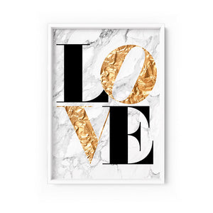 Wall art - Iconic Love - Print on paper (Framed/ Unframed)- (A-640)