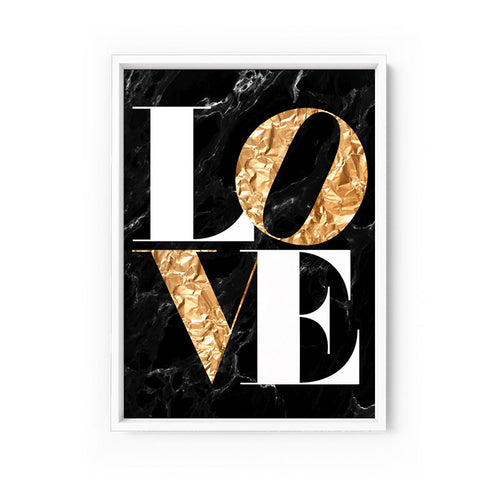Wall art - Iconic Love - Print on paper (Framed/ Unframed)- (A-639)