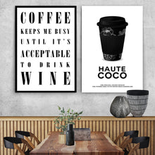 Wall art-Coffee keeps me busy... -(A-373)