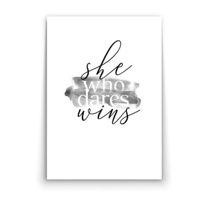 Wall art-She Who Dares Wins -(A-377)