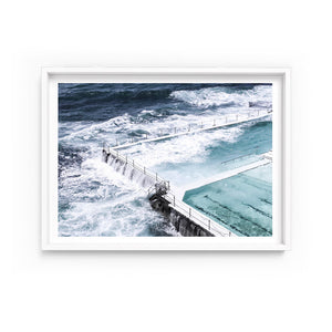Wall art-Bondi Icebergs pool No. 2 - Framed/ Unframed Art print (A-636)