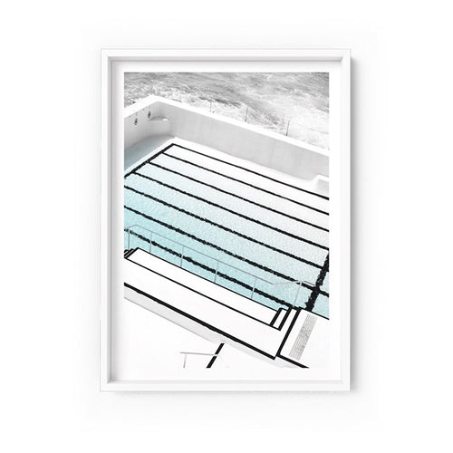 Wall art-Bondi Icebergs pool No. 3 - Framed/ Unframed Art print (A-637)