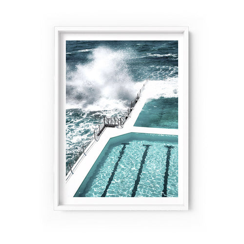 Wall art-Bondi Icebergs pool No. 4 - Framed/ Unframed Art print (A-638)