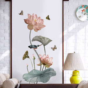 Wall Decals- Lotus Flowers wall decals (W-19)