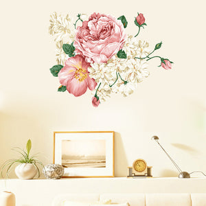Wall Decals- Peony Flowers wall decals (W-20)