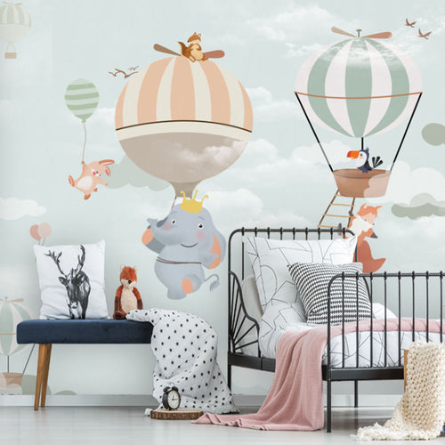 Wall Mural - Hot Air Balloon Animals Fun (WM-13)