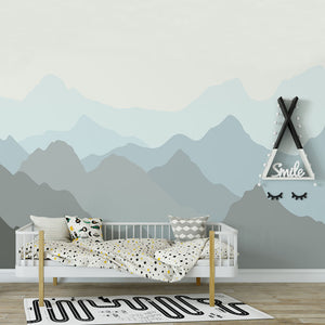 Wall Mural -Mountain Mist Blue (WM-16)