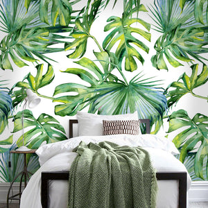 Wall Mural -Light green leaf (WM-7)