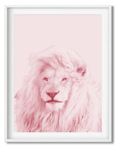 Wall Art - Pink Lion - Framed / unframed art print (A-486)