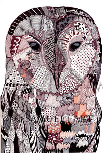 Wall Art - Wise Owl No.1 - (A-259)