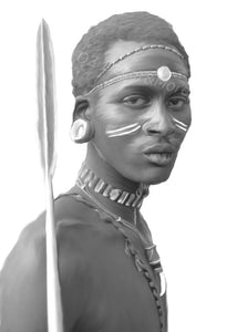 Wall Art - Tribal African Man  (A-673)
