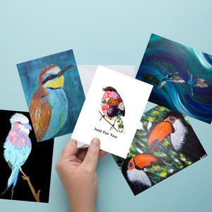 Greeting Cards - 5 PK Assorted Bird Designs