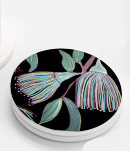 Ceramic Coasters set of 4 - Colorful Gum Tree