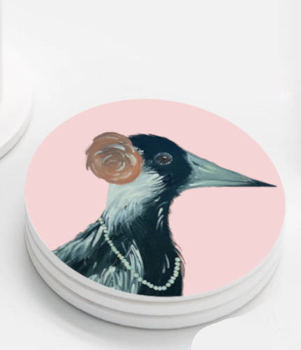 Ceramic Coasters set of 4 - Cheeky Magpie