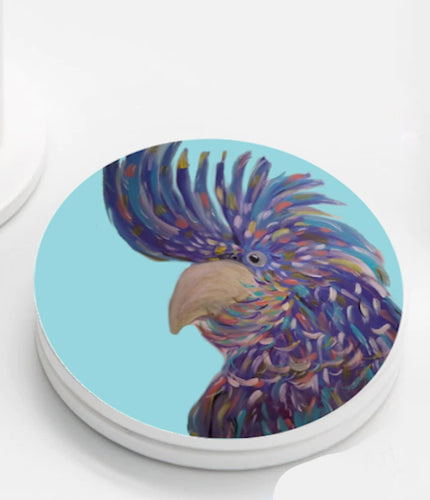 Ceramic Coasters set of 4 - Rainbow Cockatoo