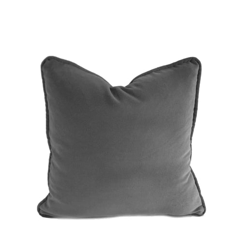 Velvet Cushion Cover - Dark Grey - 4 sizes available (DC-163)