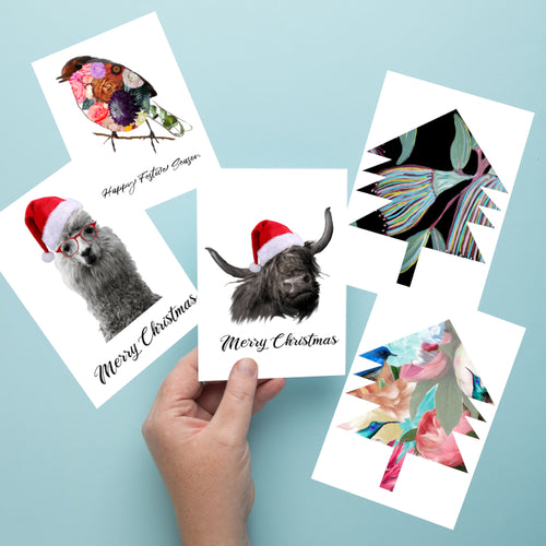 Greeting Cards - 5 PK Assorted Christmas Designs