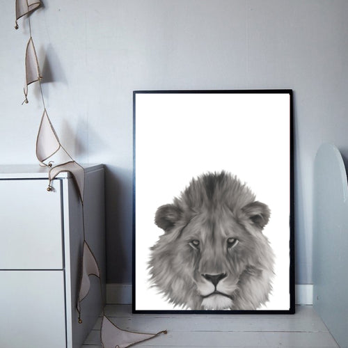 Wall Art -  B/W Lion (A-360b)