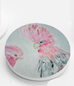 Ceramic Coasters set of 4 - Galahs