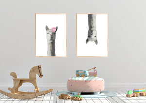 Wall Art -  Llama Ma - Framed / unframed art print (A-456)