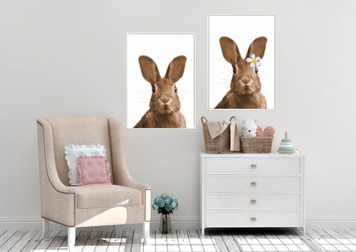Wall Art -  Oscar & Lily Brown Bunnies (A-462)