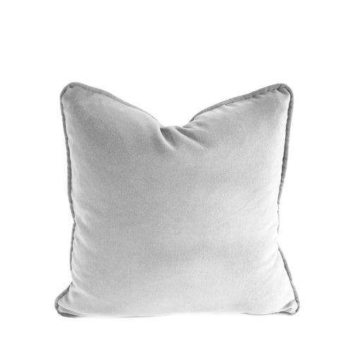 Velvet Cushion Cover - Light Grey - 4 sizes available (DC-164)