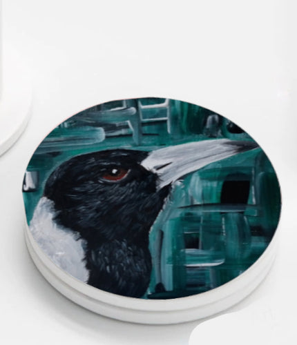 Ceramic Coasters set of 4 - MC the Magpie