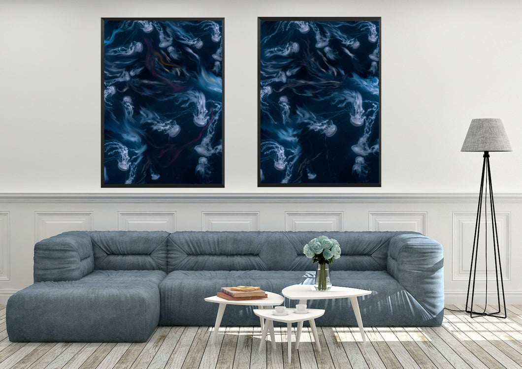 Wall Art - Jelly Fish Dance (A-294)