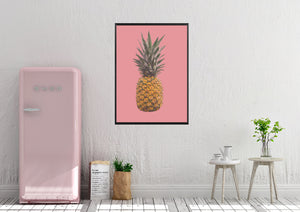 Wall Art - Pineapple on Pink (A-390)