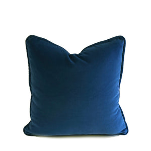 Velvet Cushion Cover - Navy Blue - 4 sizes available (DC-165)
