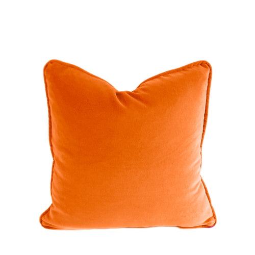Velvet Cushion Cover - Orange- 4 sizes available (DC-167)